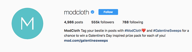 Instagram Sweepstakes