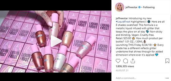 Jeffree Star Cosmetics New Product