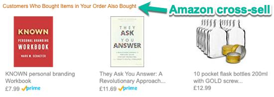 Amazon Cross Selling Technique Transactional vs Marketing Email