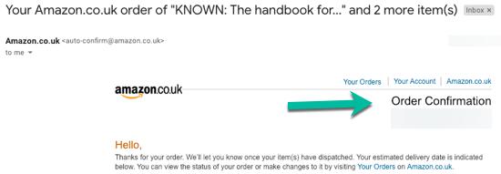 Amazon Order Confirmation Transactional vs Marketing Email