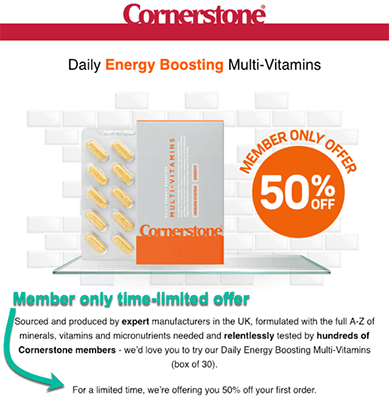 Cornerstone Cross Sell Offers Transactional vs Marketing Email