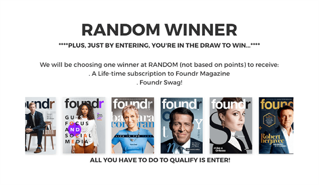 Foundr Magazine Giveaway Winner