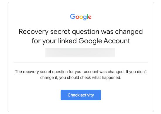 Google Security Alert Transactional vs Marketing Email