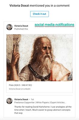 Victoria Doxat Social Media Notifications Transactional vs Marketing Email