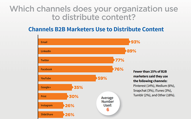 Statistic 13 Top content distribution channel