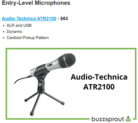 Buzzsprout - Best podcast microphones