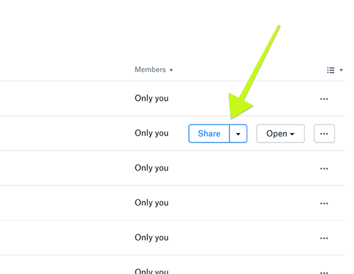 Generate a share link for files