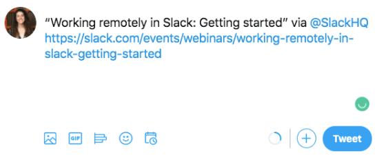 Slack Twitter Post
