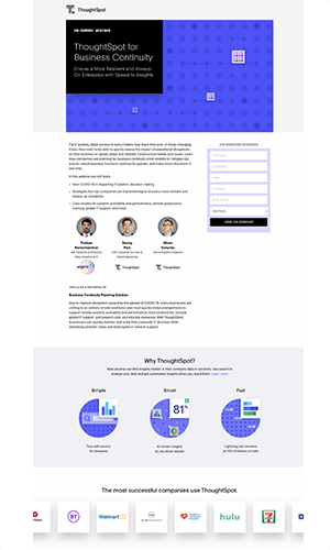 ThoughtSpot Landing Page