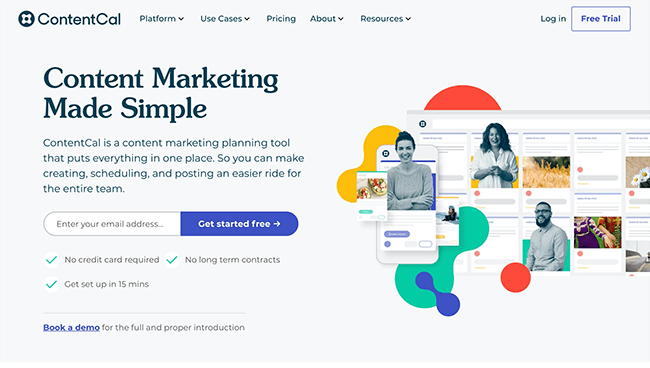 ContentCal Homepage