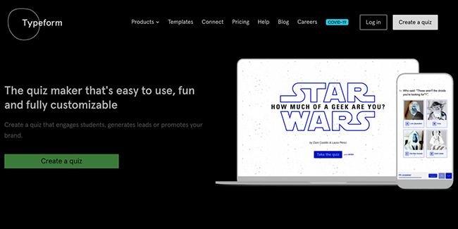 Typeform Homepage