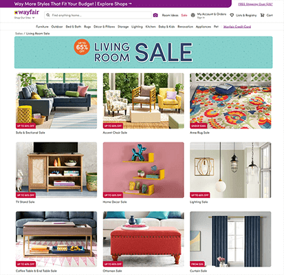 Wayfair featured products