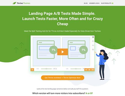 Thrive Optimize Homepage Screenshot