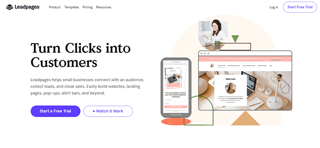 01 Leadpages homepage