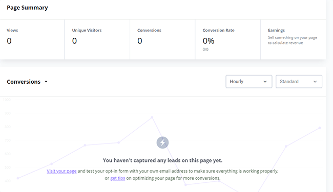21 View analytics for page