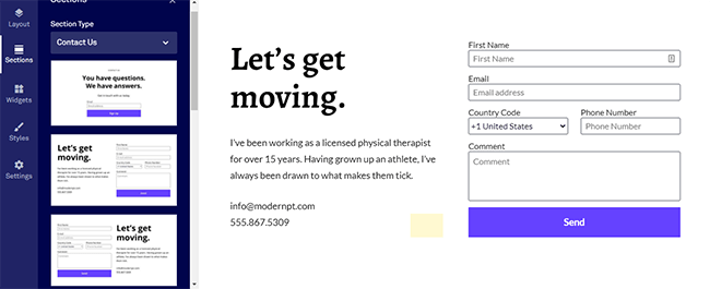 24 Different contact page layout