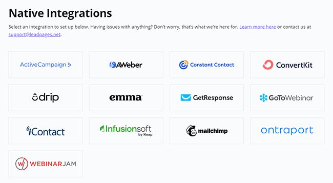 38 Available integrations