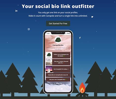 Campsite Instagram Bio Tool