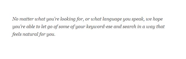 Eliminate keyword-ese