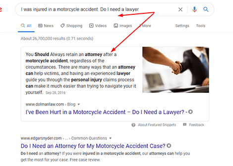 Google showing accurate result