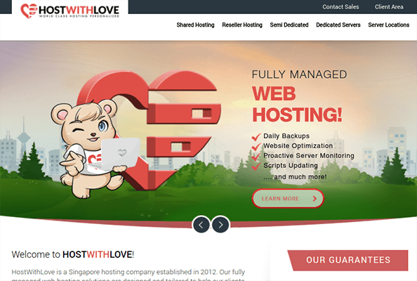 hostwithlove dedicated hosting