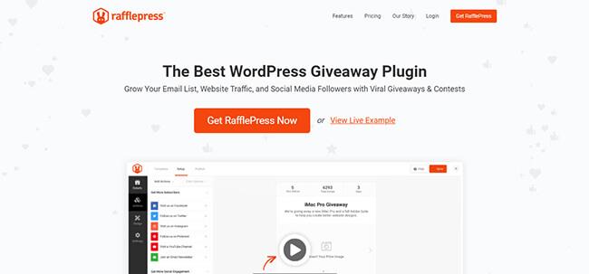 RafflePress Homepage