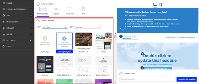 02 Unbounce landing page templates