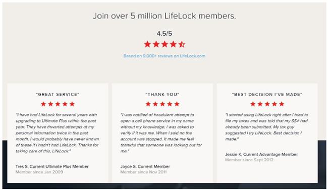 03 Lifelock adds customer reviews