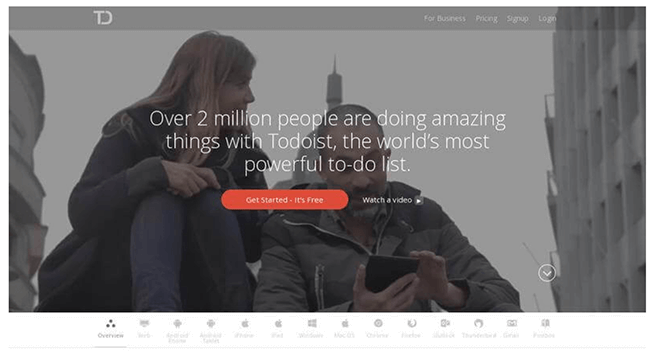 22 ToDoist landing page Landing Page Practices