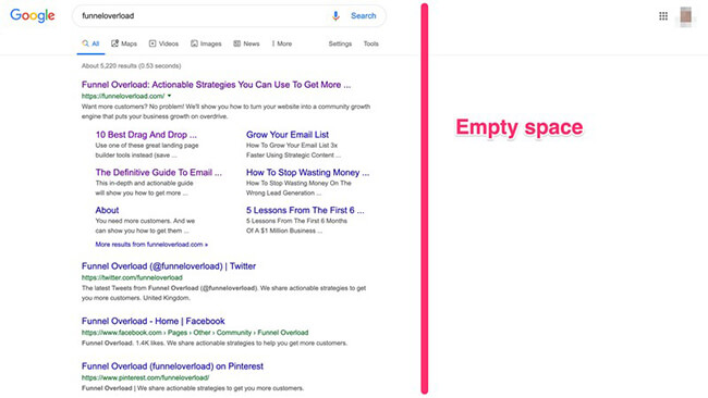 24 Results shown from top left on Google