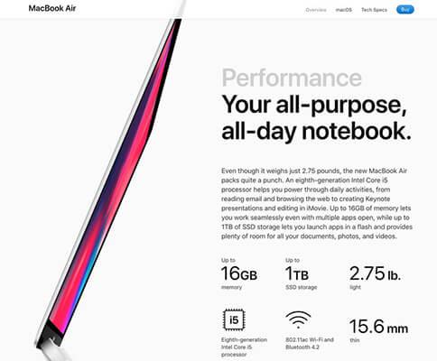 29 MacBook Air landing page