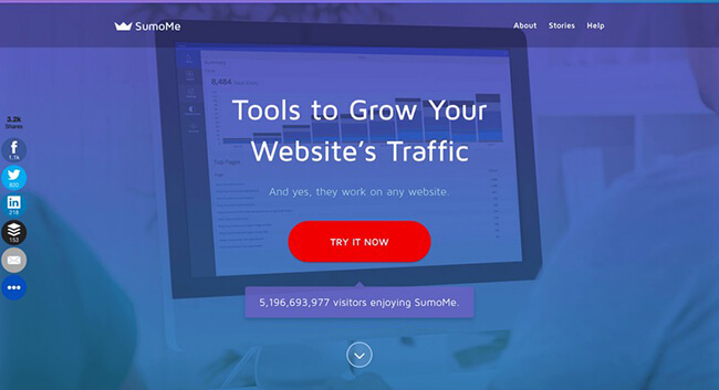 46 SumoMe homepage Landing Page Practices