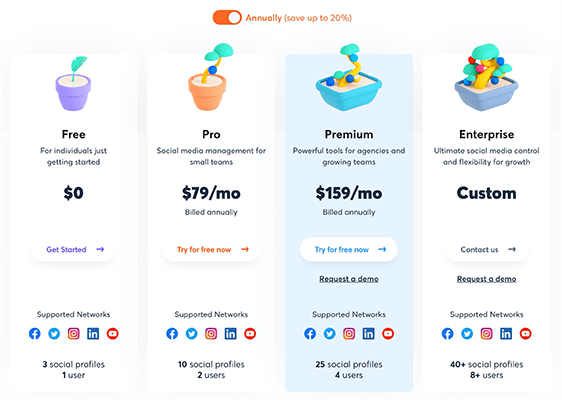 AgoraPulse New Pricing Page