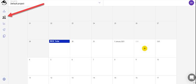 Bullhorm icon for calendar view