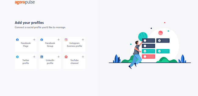 Connect your social media accounts to AgoraPulse