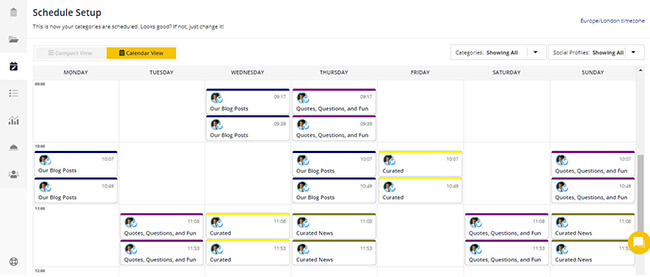Customize scheduling content