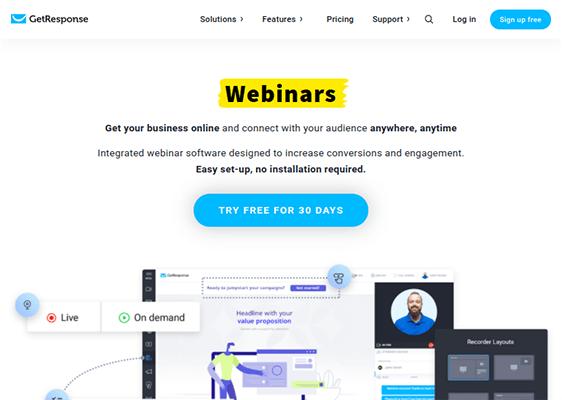 GetResponse Webinar - Webinar Software