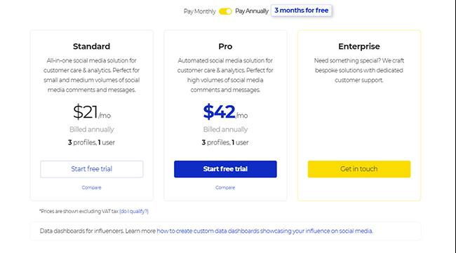 NapoleonCat pricing structure