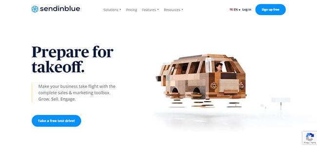 Sendinblue Homepage