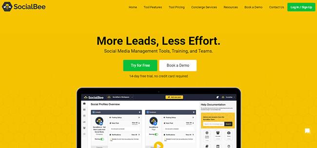 SocialBee Homepage
