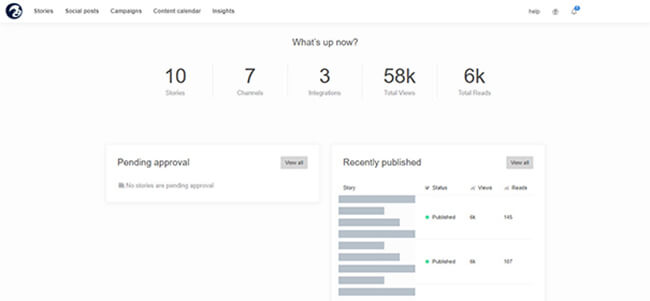 StoryChief dashboard