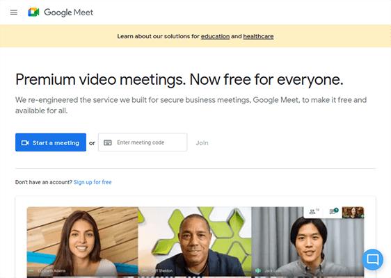google-meet - Webinar Software