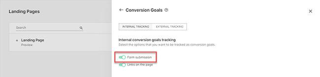 17 Click on conversion goals
