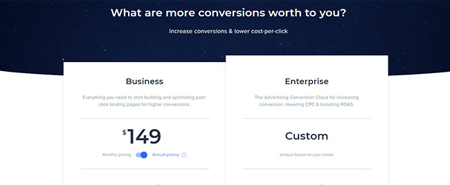 27 Instapage pricing