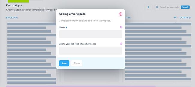 Add a workspace to Missinglettr