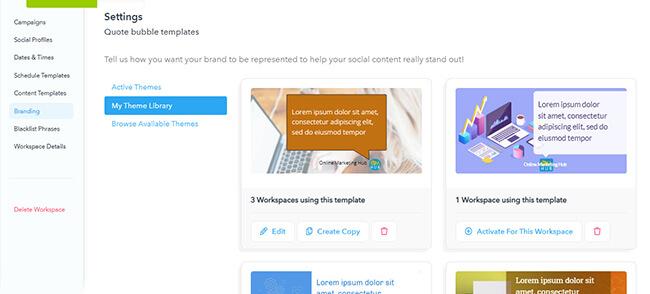 Branding option to customize templates