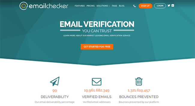 Email Checker Homepage