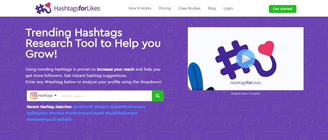 HashtagsForLike Homepage