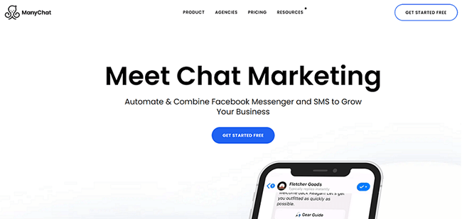 Manychat Homepage