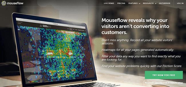 Mouseflow Homepage